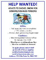 Snow Sholvellers Wanted