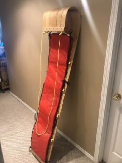 6ft Padded Wood Toboggan