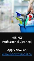 HIRING PROFESSIONAL CLEANERS - hourly-paid -  GTA- FT