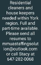 Urgent cleaners and house keepers needed immediately