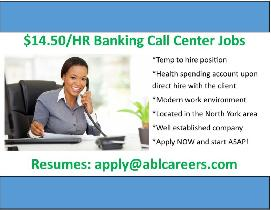 $14.50/HR BANKING CALL CENTRE HIRING CSR'S IN NORTH YORK!