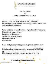 Looking for Housekeepers in Prince Edward County