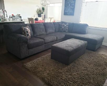 Sectional Sofas Made In Calgary Morty Chenille 2 Pc