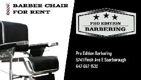 BARBER CHAIR FOR RENT.