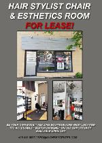 Hair Stylist Chair and Esthetics Room for Rent in King W Studio!