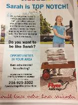CARRIERS WANTED TO DELIVER FLYERS ONCE A WEEK