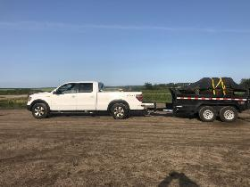 Truck and dump trailer for hire