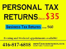 Personal Tax Filings from $35