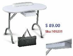 Greenlife Etobicoke Portable Manicure Nail Table with carry bag