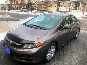 EXCELLENT 2012 Honda Civic EX Fully Load 115000Km SUNROOF Alloy