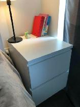 White 2-Drawer Chest for SALE