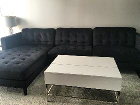 Modern Charcoal Sectional