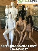 Realistic Black & White Mannequins and Dress forms