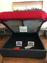 Modern Hydraulic up-lift storage bed in fabric
