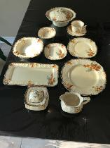 CHINA SETTING FOR 8 MORE-VINTAGE ANTIQUE MYOTT STAFFORDSHIRE