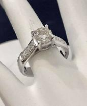 14K Gold 1.25ct. Diamond Engagement Ring /Certified at $12,850