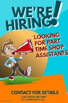 Looking for a part time shop assistant