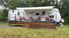 32 ft. 2 Bedroom Trailer with 2 Tip Outs Sleeps 8 - 10