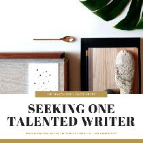 Seeking a talented writer for a paid ghostwriting position.